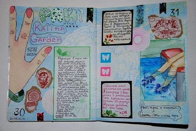Прикольное оформление личного дневника внутри - фото (13)