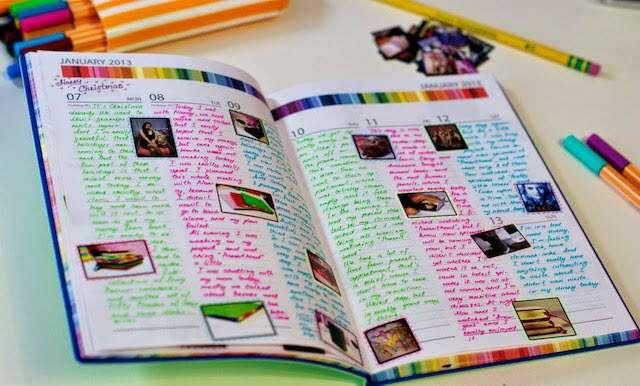 Прикольное оформление личного дневника внутри - фото (19)