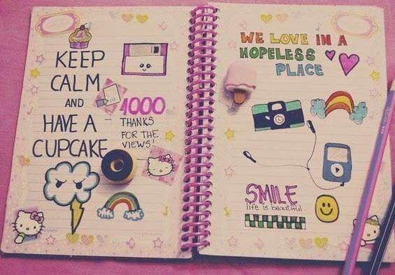 Прикольное оформление личного дневника внутри - фото (20)