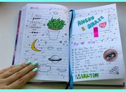Прикольное оформление личного дневника внутри - фото (23)