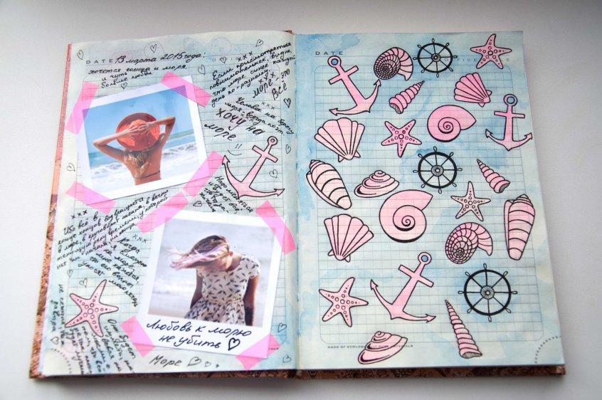 Прикольное оформление личного дневника внутри - фото (30)