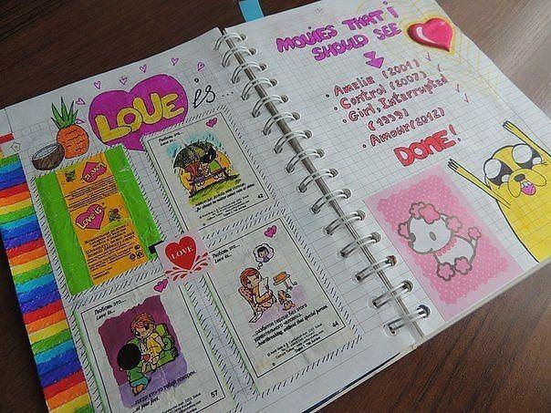 Прикольное оформление личного дневника внутри - фото (6)