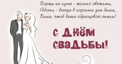 Прикольные картинки для молодоженов со свадьбой (7)