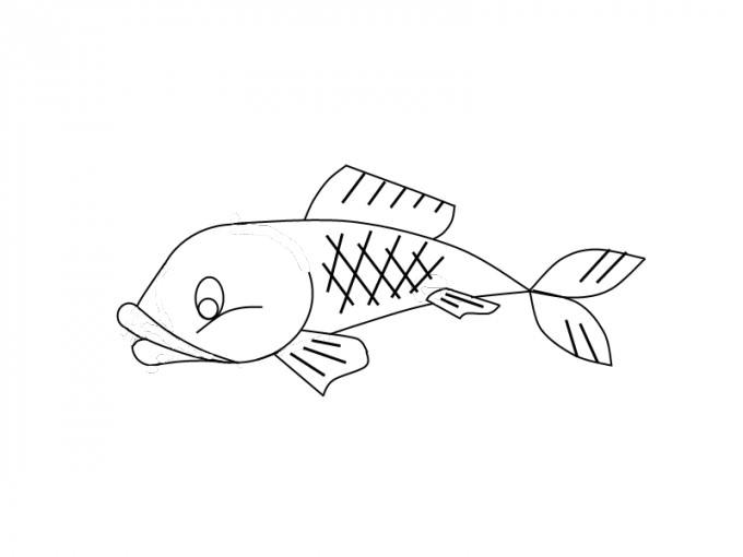 Прикольные картинки нарисованные рыбы002