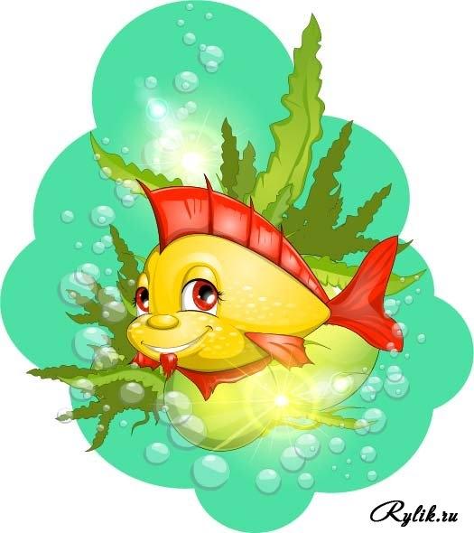 Прикольные картинки нарисованные рыбы004