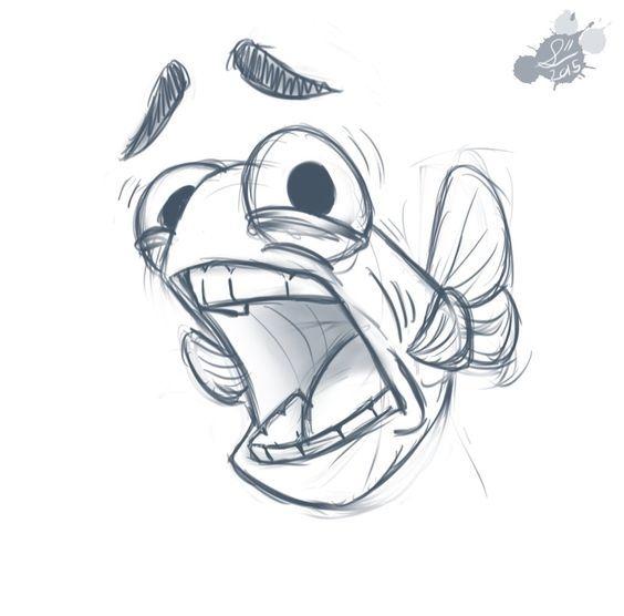 Прикольные картинки нарисованные рыбы005