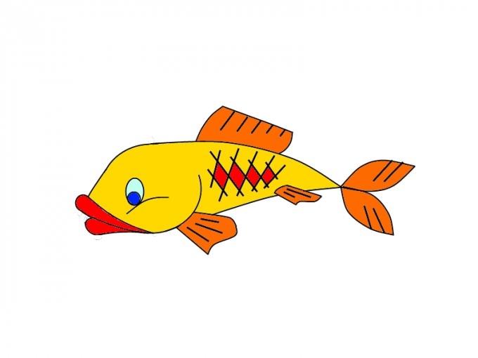 Прикольные картинки нарисованные рыбы010
