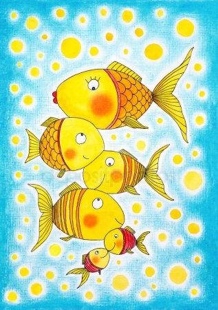 Прикольные картинки нарисованные рыбы018