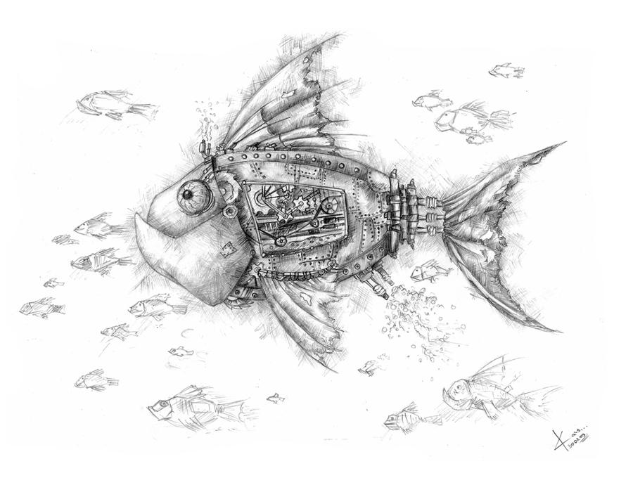 Прикольные картинки нарисованные рыбы021