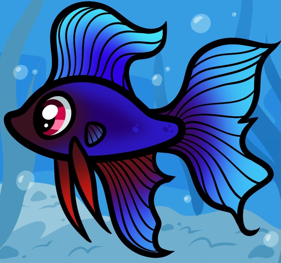 Прикольные картинки нарисованные рыбы022