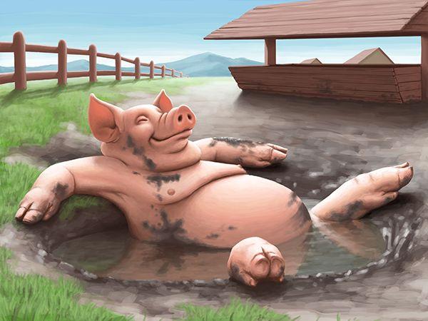 Прикольные картинки про свиней - 32 фото (12)
