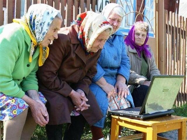 Прикольные картинки смешных старушек (12)
