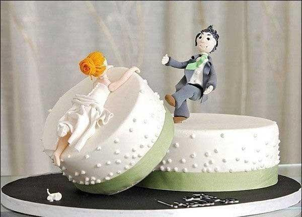 Прикольные картинки торты на свадьбу - идеи с фото (10)