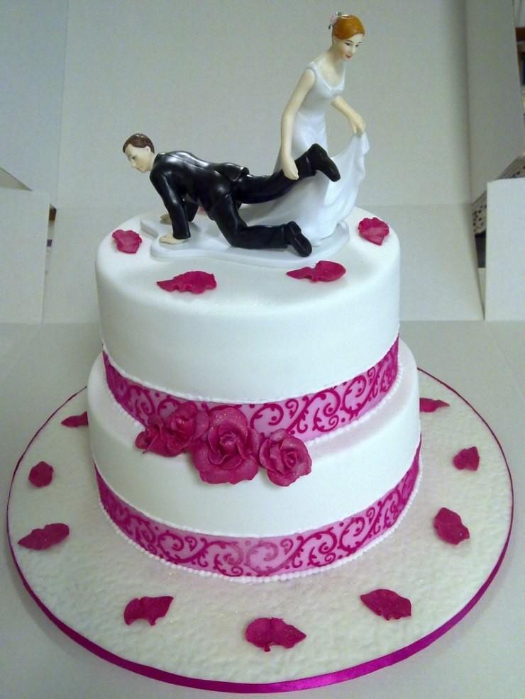 Прикольные картинки торты на свадьбу - идеи с фото (19)