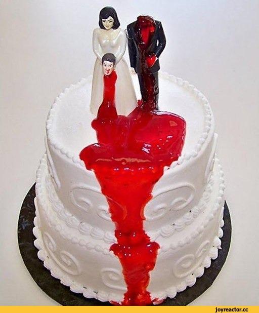Прикольные картинки торты на свадьбу - идеи с фото (26)