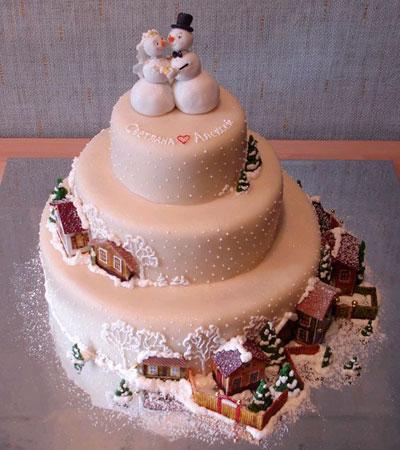 Прикольные картинки торты на свадьбу - идеи с фото (3)