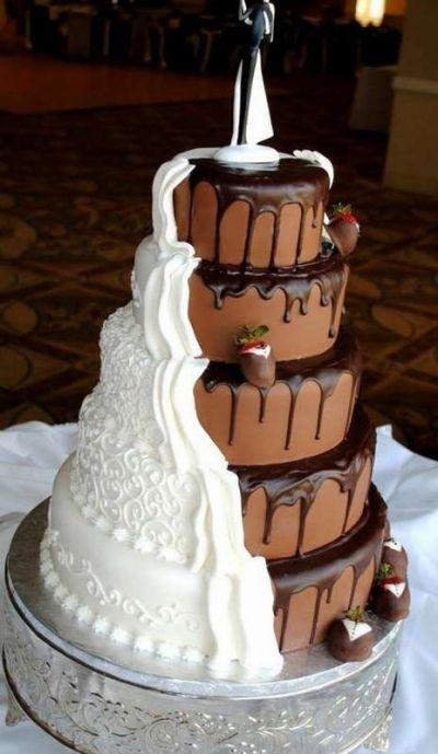 Прикольные картинки торты на свадьбу - идеи с фото (4)