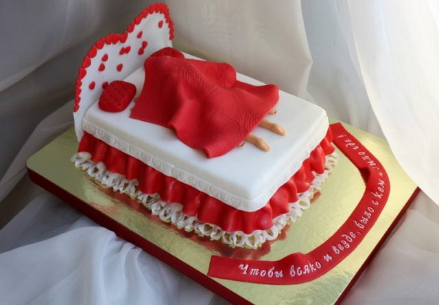 Прикольные картинки торты на свадьбу - идеи с фото (5)
