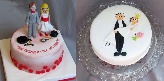 Прикольные картинки торты на свадьбу - идеи с фото (8)