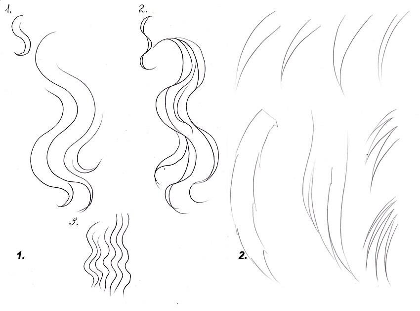 Прически аниме рисуем карандашом003