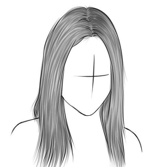 Прически аниме рисуем карандашом009