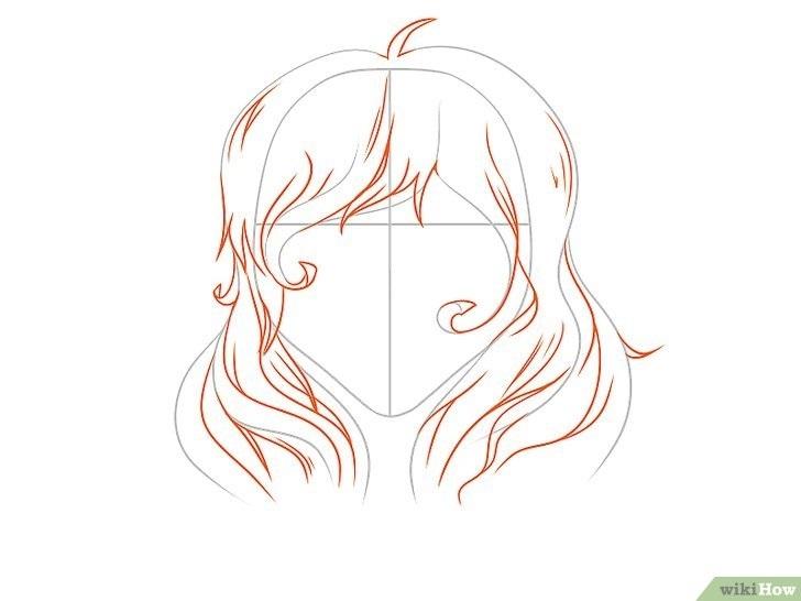 Прически аниме рисуем карандашом010