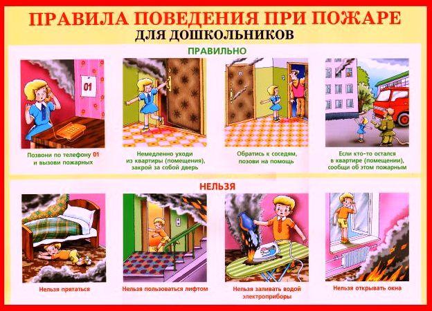 Противопожарная безопасность картинки детские - подборка (5)