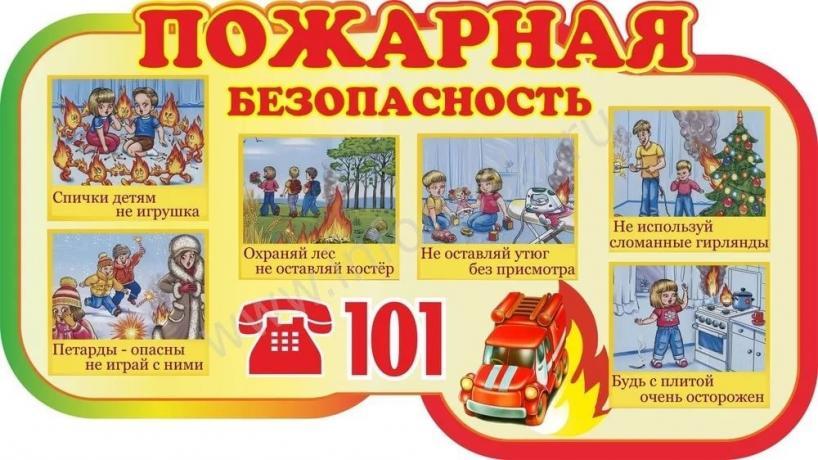 Противопожарная безопасность картинки детские - подборка (6)