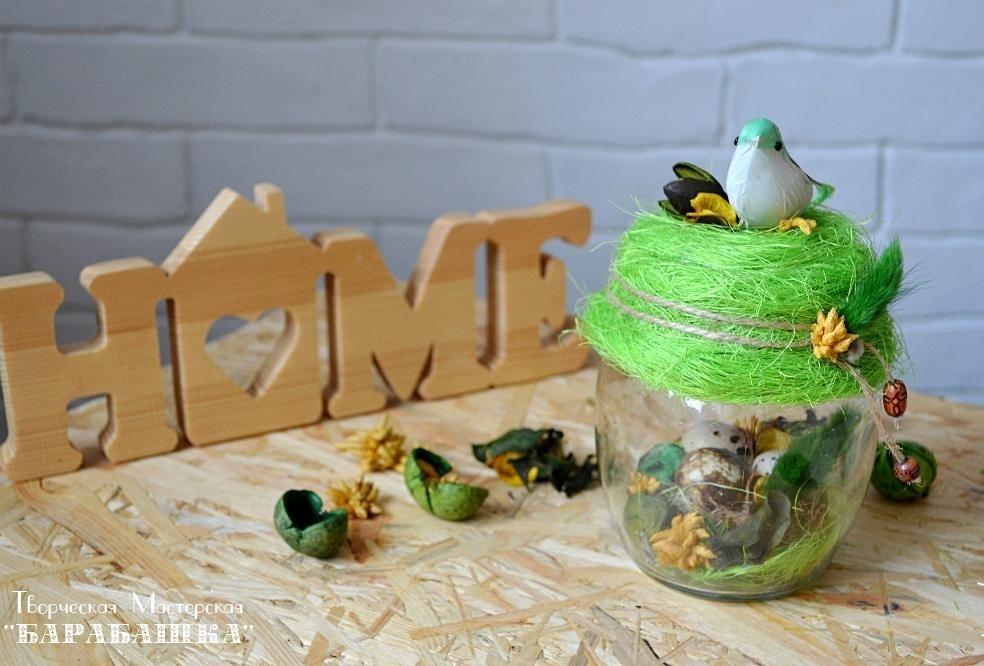 Птички в банке своими руками015