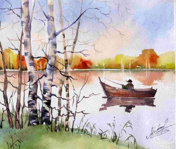 Рисование осеннего пейзажа гуашью - лучшие картины (16)
