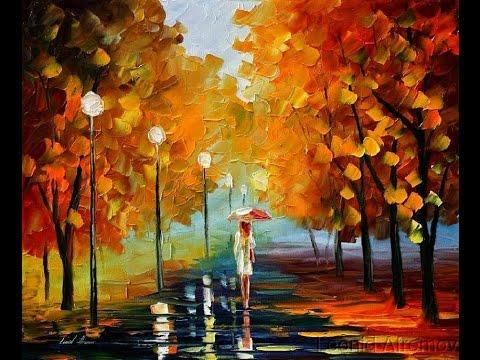 Рисование осеннего пейзажа гуашью - лучшие картины (18)