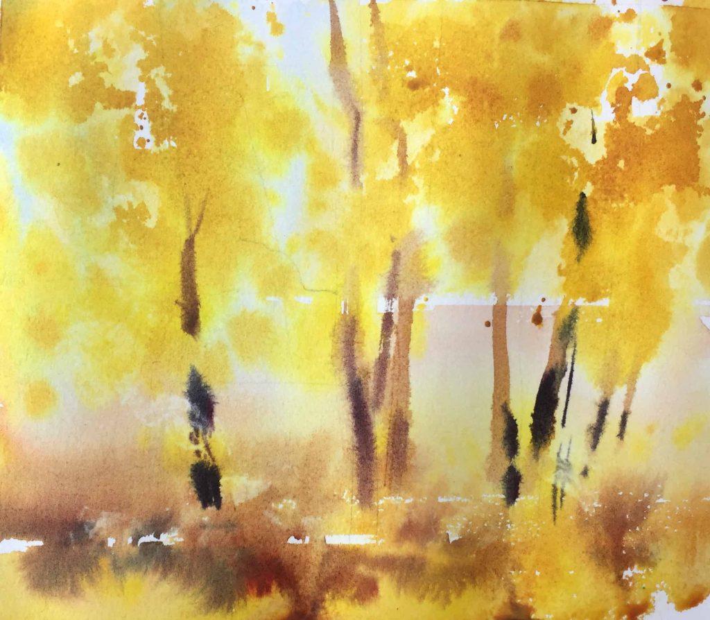 Рисование осеннего пейзажа гуашью - лучшие картины (27)