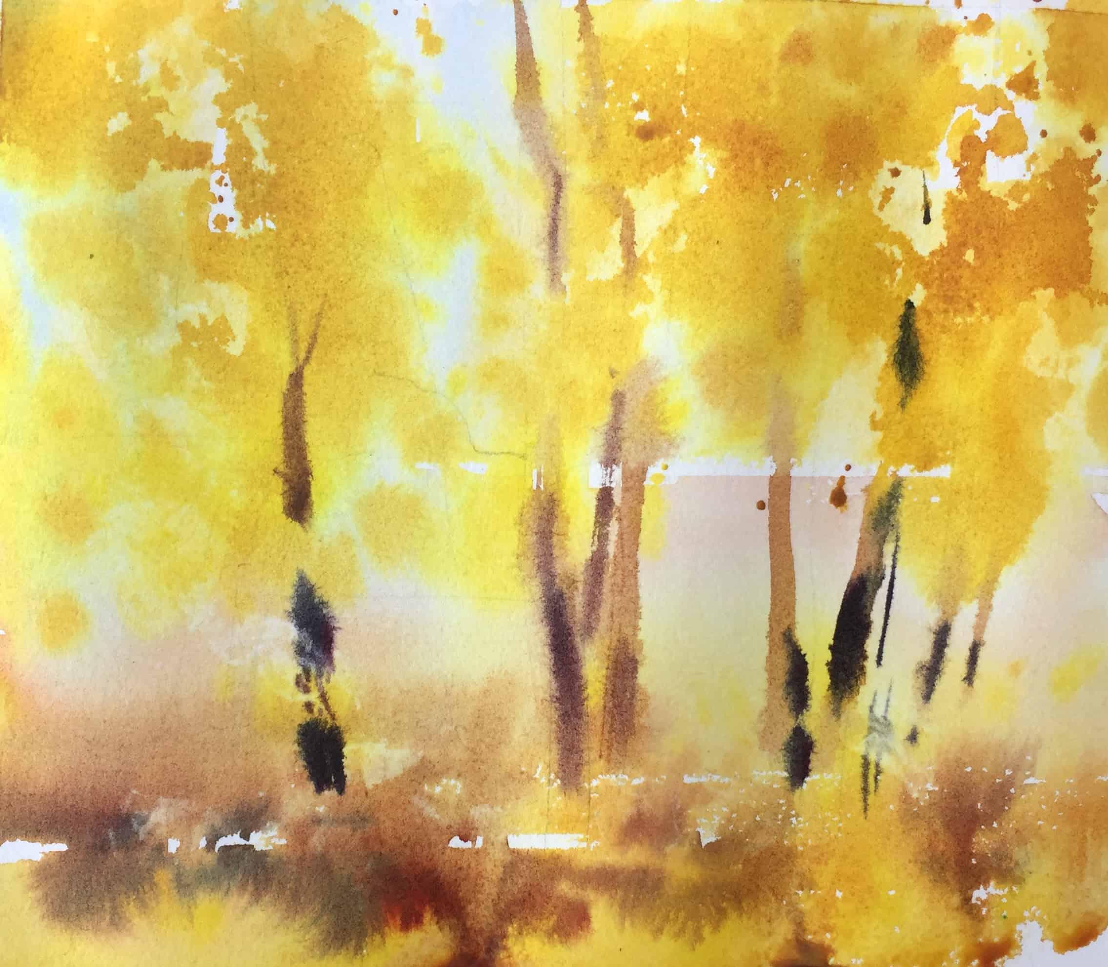 Рисование осеннего пейзажа гуашью   лучшие картины (27)