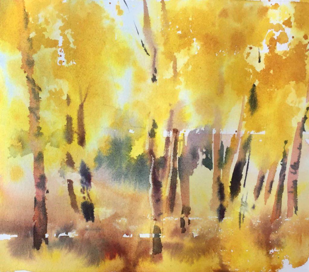 Рисование осеннего пейзажа гуашью - лучшие картины (29)