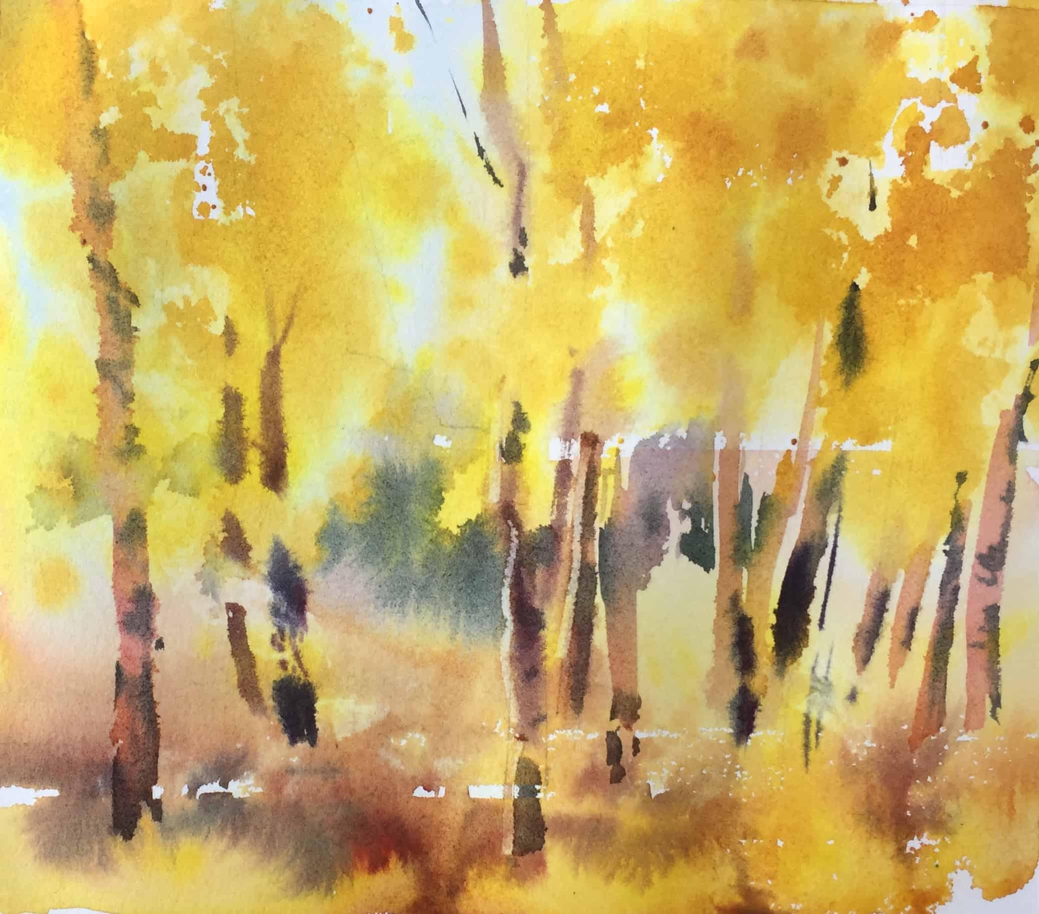 Рисование осеннего пейзажа гуашью   лучшие картины (29)