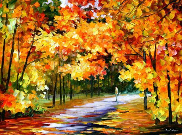 Рисование осеннего пейзажа гуашью - лучшие картины (4)