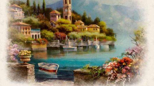 Рисунки город у моря   20 изображений (1)