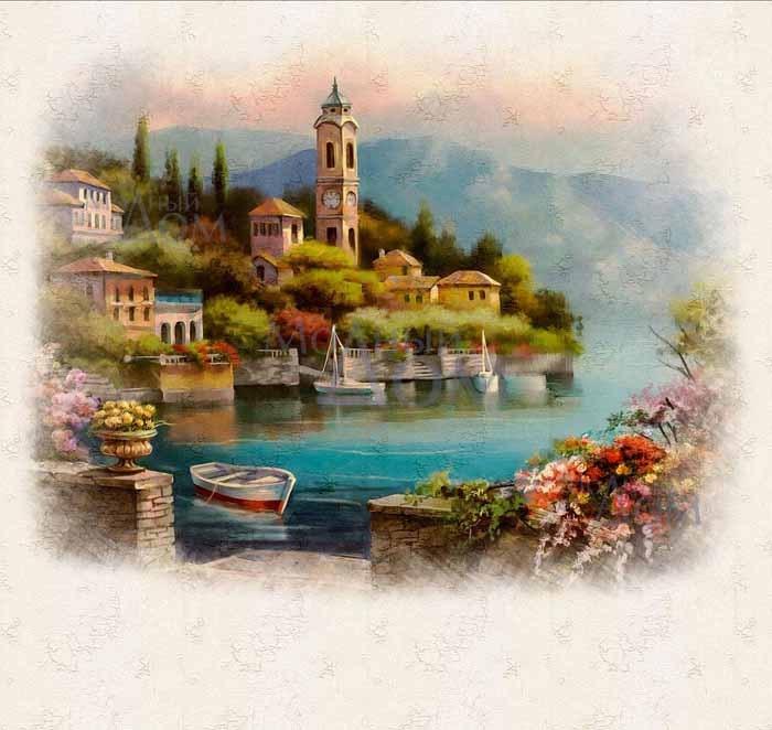 Рисунки город у моря - 20 изображений (1)
