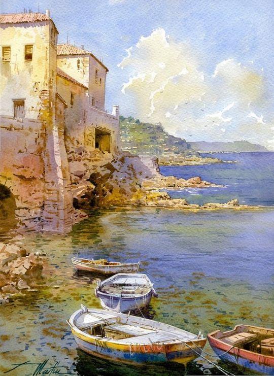 Рисунки город у моря - 20 изображений (14)