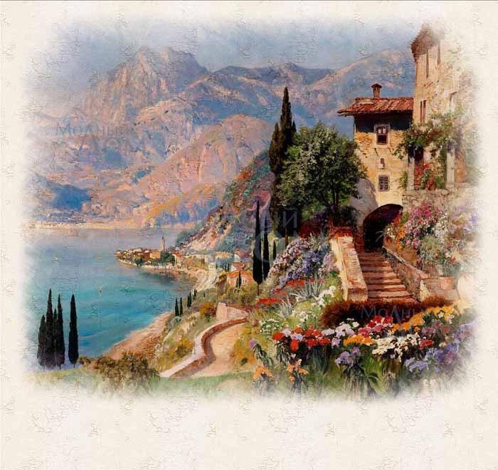 Рисунки город у моря - 20 изображений (16)