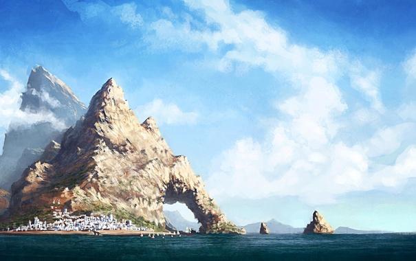 Рисунки город у моря - 20 изображений (18)