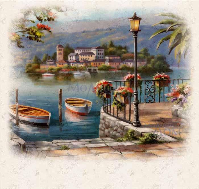 Рисунки город у моря - 20 изображений (19)