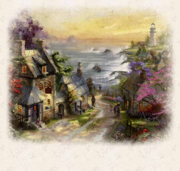 Рисунки город у моря - 20 изображений (2)