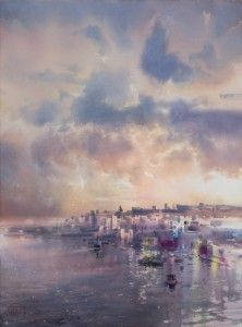 Рисунки город у моря - 20 изображений (6)