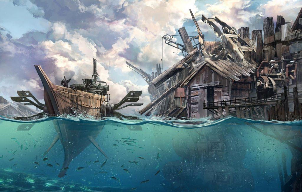 Рисунки город у моря - 20 изображений (7)