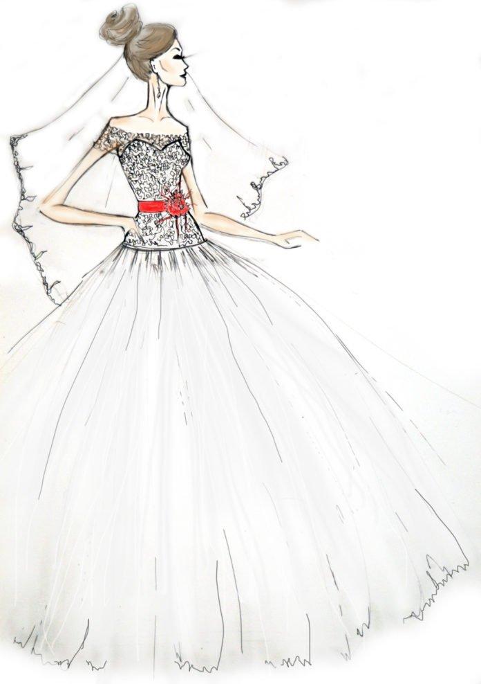 Рисунки девушек карандашом в полный рост в платьях (1)