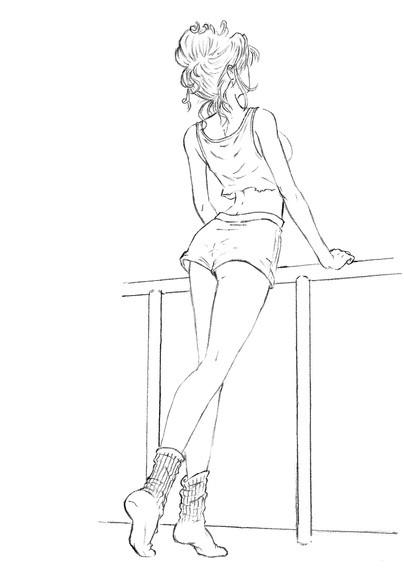 Рисунки девушек карандашом в полный рост в платьях (10)