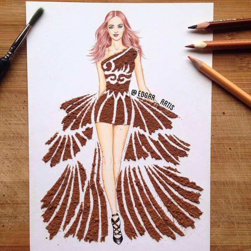 Рисунки девушек карандашом в полный рост в платьях (24)