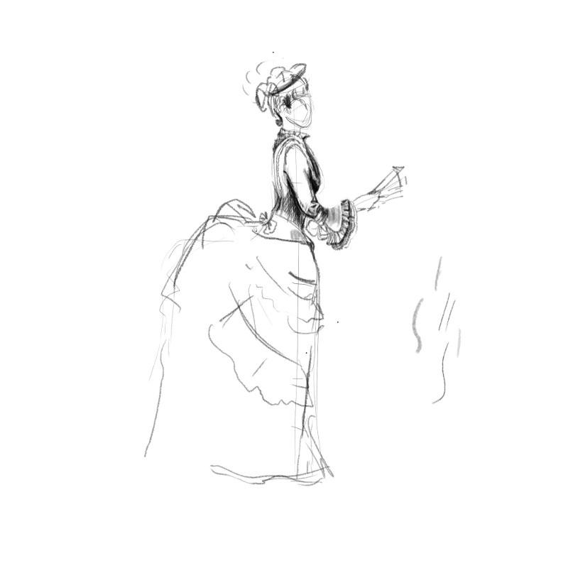 Рисунки девушек карандашом в полный рост в платьях (6)