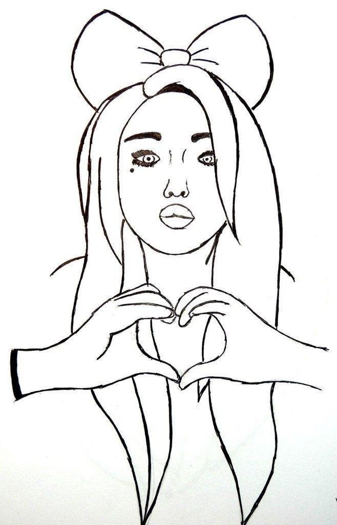 Рисунки для девочек 15 лет для личного дневника004